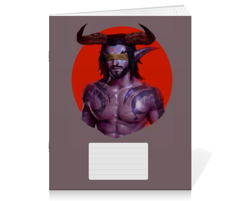 Тетрадь на скрепке Printio Warcraft: illidan тетрадь на скрепке printio медведь