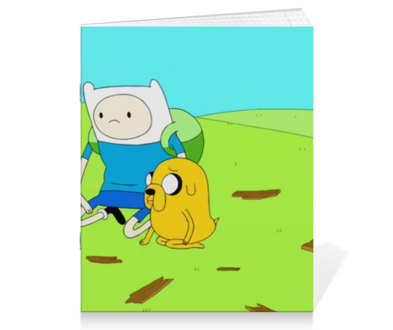 Тетрадь на скрепке Printio Время приключений тетрадь на скрепке printio медведь