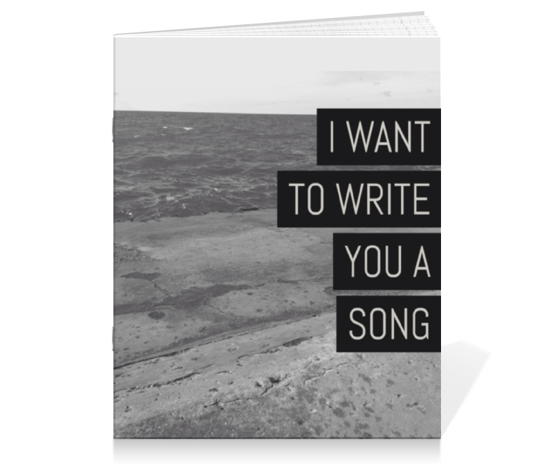 Тетрадь на скрепке Printio I want to write you a song (one direction mitam) 30pcs in one postcard owe you a song romantic love christmas postcards greeting birthday message cards 10 2x14 2cm
