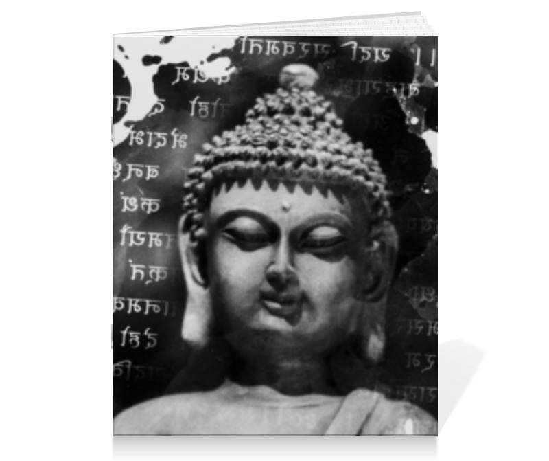 Тетрадь на скрепке Printio Будда (письмена) цена