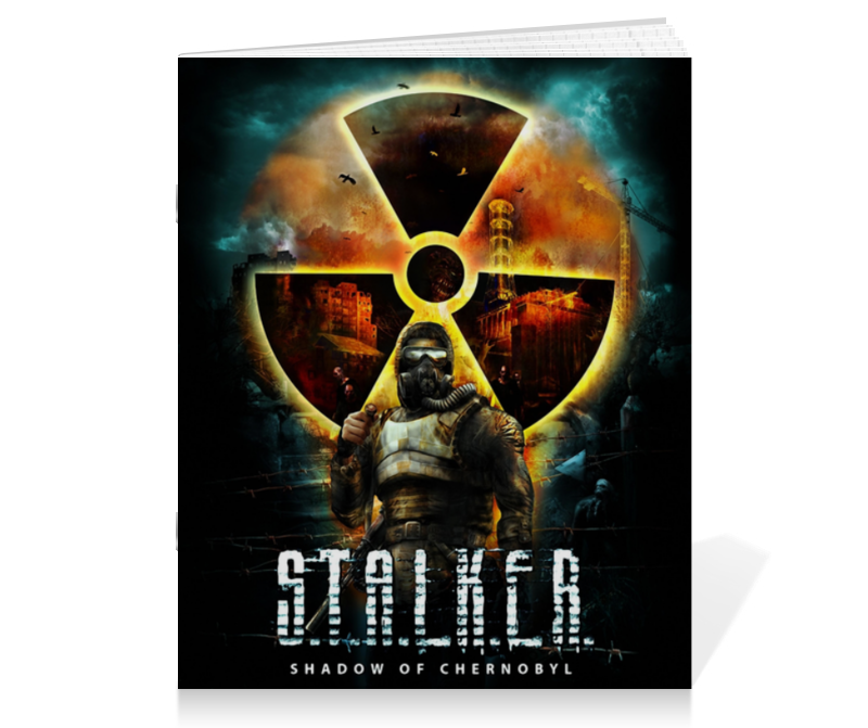 Тетрадь на скрепке Printio Stalker shadow of chernobyl valerie hansen shadow of turning