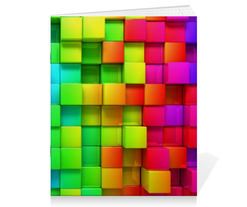 Тетрадь на скрепке Printio Colorful тетрадь на скрепке printio тайгер