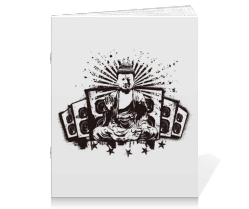 Тетрадь на скрепке Printio Будда (акустика) цена
