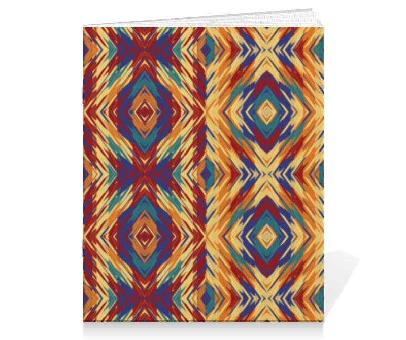 Тетрадь на скрепке Printio Этническая абстракция тетрадь на скрепке printio абстракция