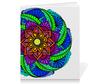 """Тетрадь на скрепке """"Яркий цветок в этническом стиле"""" - орнамент, этнический, мехенди"""