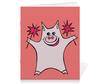 """Тетрадь на скрепке """"Розовый поросёнок с бенгальскими огнями"""" - арт, счастье, свин, розовый поросенок, бенгальский огонь"""