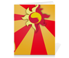 "Тетрадь на скрепке ""Sunset Shimmer Color Line"" - sun, cutiemark, sunset shimmer"