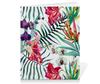 """Тетрадь на скрепке """"Тропические цветы"""" - милый, лето, пальма, орхидея, женственно"""