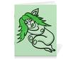"""Тетрадь на скрепке """"Дремлющая троллита"""" - девушка, тролль, графика, сладкий сон, мифические существа"""