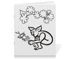 """Тетрадь на скрепке """"Задумчивый тролль с лягушкой"""" - арт, тролль, лягушка, сказка, мифические существа"""