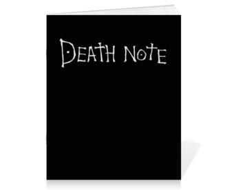 "Тетрадь на скрепке ""Тетрадь смерти (Death note)"" - манга, death note, тетрадь смерти, кира"