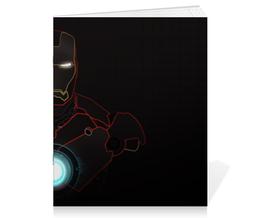 "Тетрадь на скрепке ""Железный человек"" - марвел, железный человек, iron man, тони старк, stark"