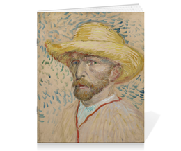 "Тетрадь на скрепке ""Винсент ван Гог (автопортрет)"" - картина, ван гог, живопись"