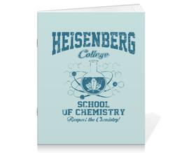 "Тетрадь на скрепке ""Heisenberg college"" - во все тяжкие, химия, breaking bad, heisenberg, хайзенберг"