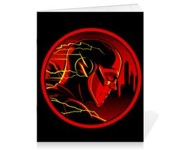 "Тетрадь на скрепке ""Флэш "" - flash, комиксы, dc comics, флэш, барри аллен"