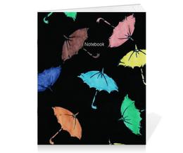 """Тетрадь на скрепке """"Зонтики"""" - зонтики, umbrellas"""