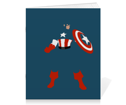 "Тетрадь на скрепке ""Капитан Америка"" - кэп, marvel, марвел, капитан америка, captain america"