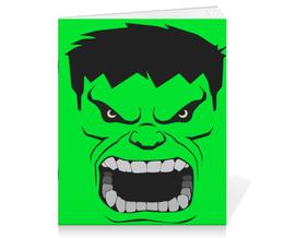 "Тетрадь на скрепке ""Злой Халк"" - злой, hulk, халк"