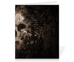 """Тетрадь на скрепке """"смерть"""" - череп, готика, смерть, мистика, металл"""