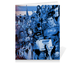 "Тетрадь на скрепке ""DC vs Marvel"" - бэтмен, супермэн, диси, марвел, человек-паук"