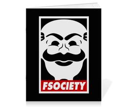 """Тетрадь на скрепке """"Мистер Робот. Fsociety"""" - сериалы, хакер, мистер робот, fsociety, mr robot"""