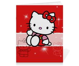 "Тетрадь на скрепке ""Hello Kitty с искрами"" - hello kitty, мультфильм, для детей, кошечка, искры"