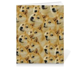 "Тетрадь на скрепке ""Doge "" - doge, сиба-ину, доге, сиба"