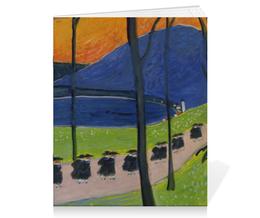 "Тетрадь на скрепке ""Осень. Школа (Марианна Верёвкина)"" - картина, живопись, марианна верёвкина"