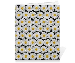 """Тетрадь на скрепке """"Ромашки"""" - цветы, цветок, ромашка, ромашки, цветочное поле"""