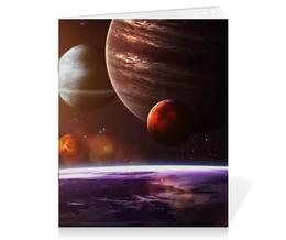 "Тетрадь на скрепке ""Солнечная система"" - space, космос, наука, марс, thespaceway"