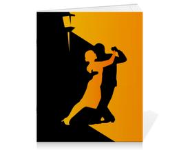 """Тетрадь на скрепке """"Танго в ночи"""" - музыка, танец, ночь, танго"""