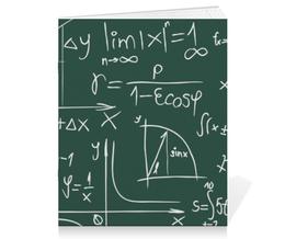 "Тетрадь на скрепке ""Математика"" - символы, математика, формулы, графики, константы"