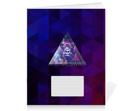 """Тетрадь на скрепке """"""""ANIMALSWAG II"""" collection: Gorilla"""" - swag, свэг, gorilla, горила"""