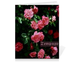 """Тетрадь на скрепке """"Розы Готика"""" - цветы, природа, фотография, розы"""