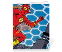 "Тетрадь на скрепке ""Флэш (Flash)"" - comics, комиксы, марвел, флэш, flesh"