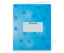 """Тетрадь на скрепке """"Снежинка"""" - праздник, новый год, зима, снег, снежинка"""