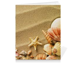 """Тетрадь на скрепке """"Ракушки"""" - море, песок, ракушки"""