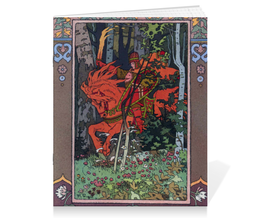 """Тетрадь на скрепке """"Красный всадник (Иван Билибин)"""" - картина, сказка, живопись, билибин"""