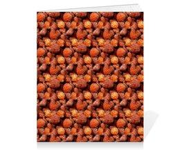 """Тетрадь на скрепке """"Дикая малина"""" - красный, ягоды, малина, сладкий, аромат"""