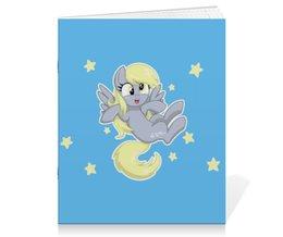 """Тетрадь на скрепке """"My little pony (Derpy)"""" - мультфильм, для детей, мой маленький пони, derpy, mlp"""