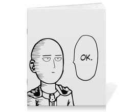 """Тетрадь на скрепке """"Ванпанчмен"""" - супергерои, аниме, сайтама, one-punch man, ванпанчмен"""