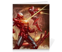 "Тетрадь на скрепке ""Железный человек"" - комиксы, марвел, iron man, tony stark, тони старк"