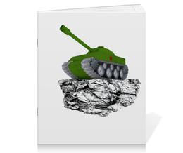 """Тетрадь на скрепке """"С 23 февраля!"""" - 23 февраля, день защитника отечества, танк, февраль, прадник"""