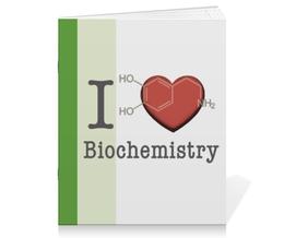 """Тетрадь на скрепке """"Для биохимиков"""" - любовь, сердца, английский, биохимия, biochemistry"""