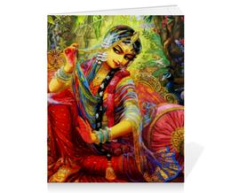 """Тетрадь на скрепке """"Радха и Кришна"""" - радха, кришна, радха кришна, кришна и радха, radha krishna"""