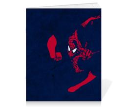 "Тетрадь на скрепке ""Человек-паук (Spider-man)"" - комиксы, марвел, человек-паук, питер паркер"