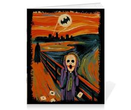 """Тетрадь на скрепке """"Приколы от Бэтмена"""" - batman, бэтмен"""