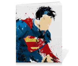 "Тетрадь на скрепке ""Супермен (Superman)"" - superman, супермэн, dc, dc comics, кларк кент"