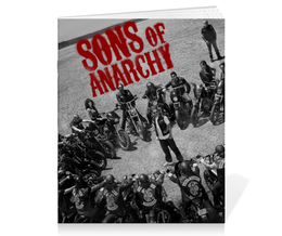 "Тетрадь на скрепке ""Сыны анархии / Sons of Anarchy"" - рисунок, кино, сериал, сыны анархии"