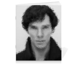 "Тетрадь на скрепке ""Шерлок Холмс (SHERLOCK)"" - sherlock, шерлок холмс, сериал sherlock, сериал шерлок холмс"
